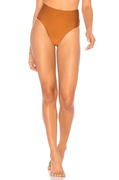 Midsommar Swim bikini metallic bronze swimwear