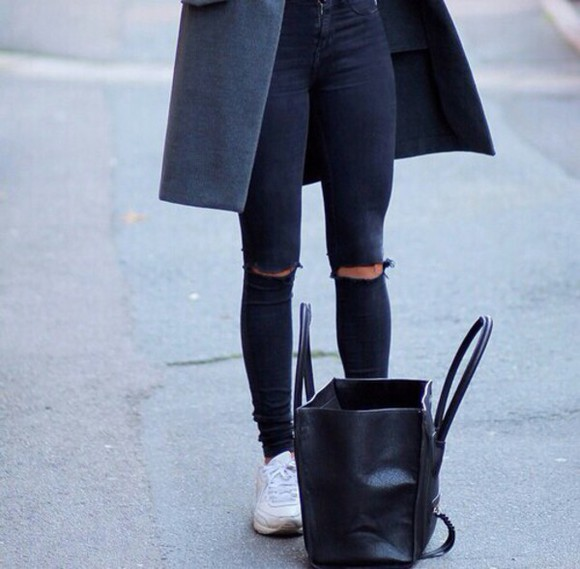 jeans black black jeans denim jacket denim vogue simple classy