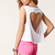 White Sleeveless Heart Cut T-Shirt - Sheinside.com