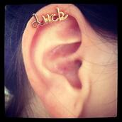 jewels,ear,cuff,ear cuff,luck,gold