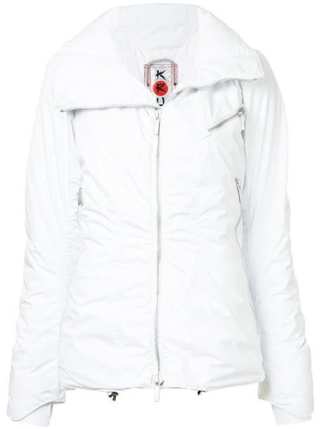 Kru jacket down jacket high women white