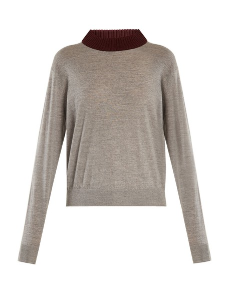 sweater wool sweater wool grey