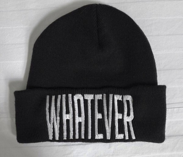 hat whatever swag black