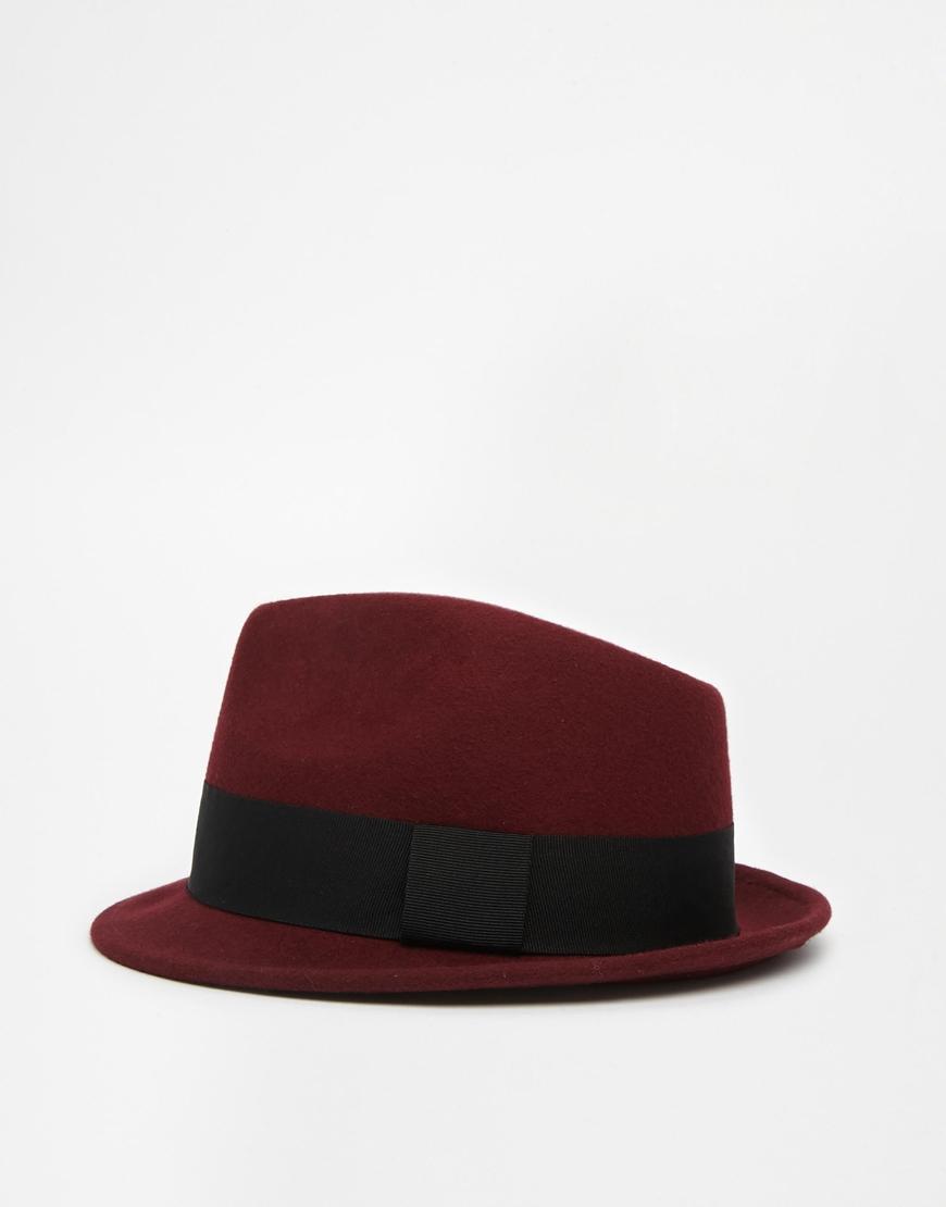 ASOS Trilby Hat at asos.com