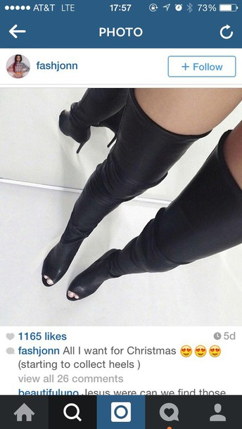 shoes thigh highs