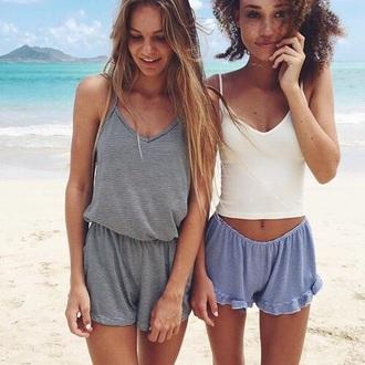shorts romper gray
