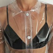 coat,raincoat,jacket,top,bra,black,see through,transparent,clear,hipster sweater,shirt,cyber ghetto,kawaii,pastel goth,pastel,cyber,brallette