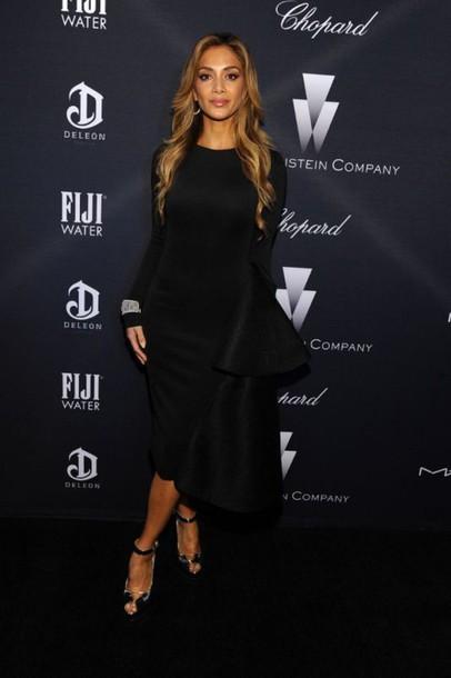 dress midi dress nicole scherzinger black dress