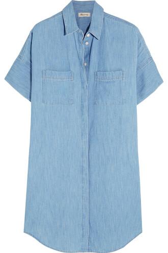 dress shirt dress cotton denim light