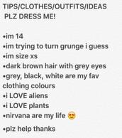 grunge,soft grunge,kawaii grunge,alien,clothes,plants,nirvana,nirvana t-shirt,rock,punk rock