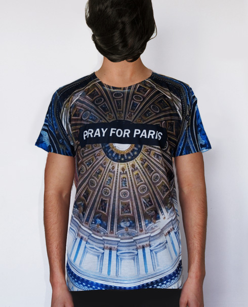 Pray for Paris ceiling t-shirt (all over print) | Pray For Paris