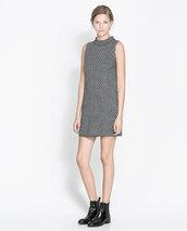 dress,zara,grey,short