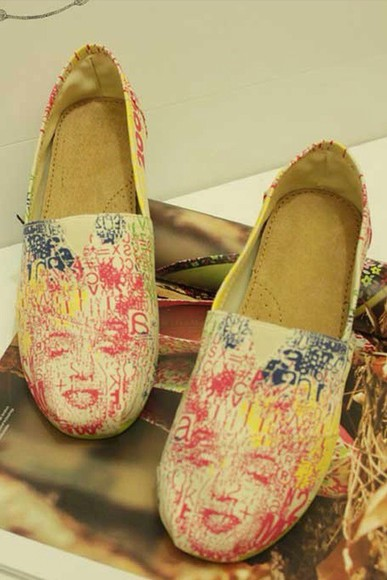 shoes marilyn monroe slip on shoes leather