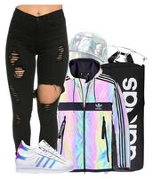 jacket,adidas,cyber ghetto,holographic