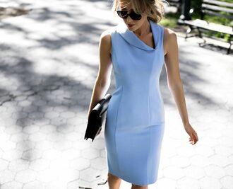 dress bag tumblr midi dress blue dress bodycon dress bodycon sleeveless sleeveless dress light blue black bag