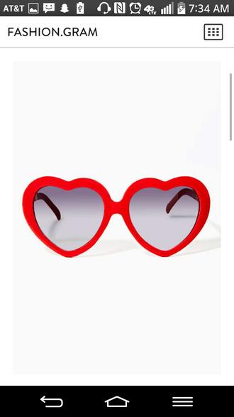sunglasses red heart sunglasses