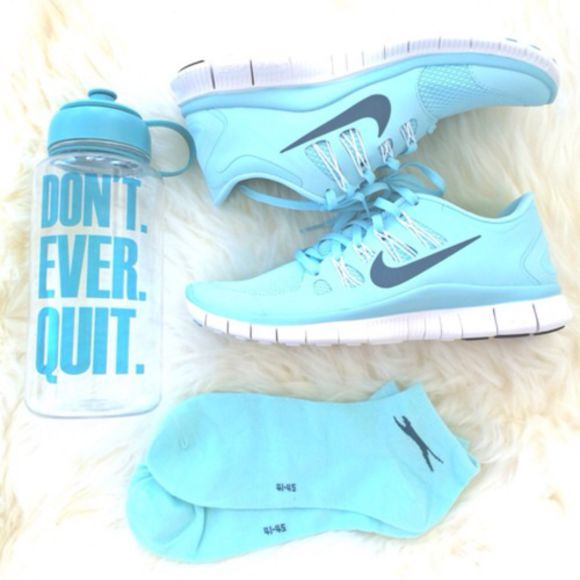 baby blue white bottoms blue shoes nike run sportswear jewels socks nike running shoes light blue sneakers cute blue shoes