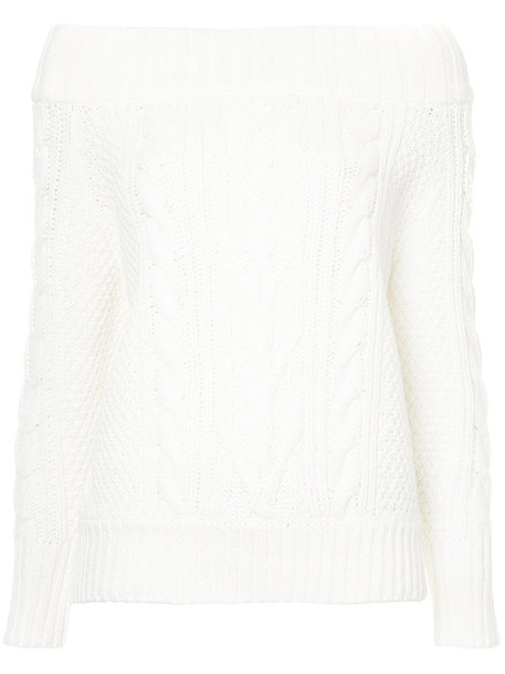 Cityshop jumper women white cotton knit sweater