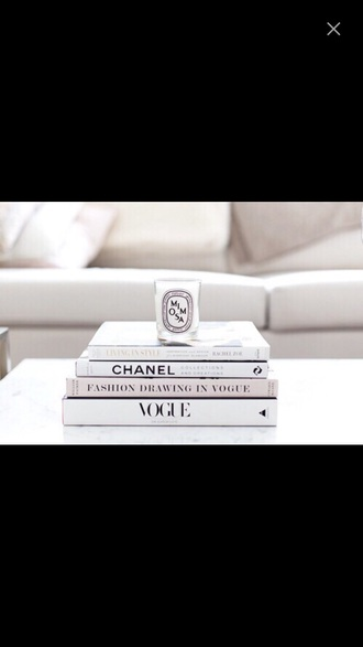 home accessory chanel book vogue