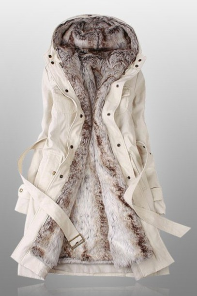 coat white coat furlined cute coat green coat belt long coat