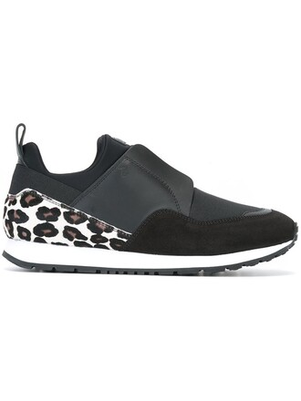 women sneakers leather black neoprene shoes