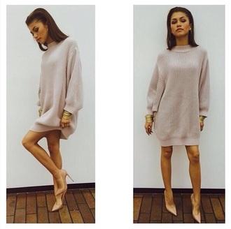 dress beige oversized sweater sweater dress