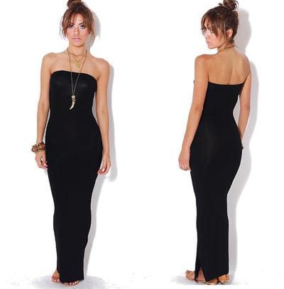 Black tube maxi dress · trendyish · online store powered by storenvy