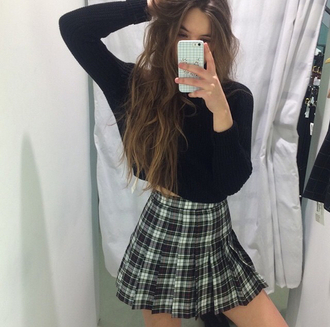 skirt tartan skirt phone cover