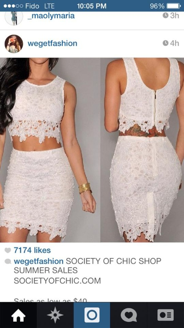dress skirt top lace dress lace white dress white