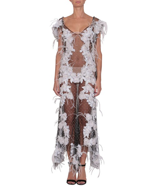 Amen dress tulle dress embroidered