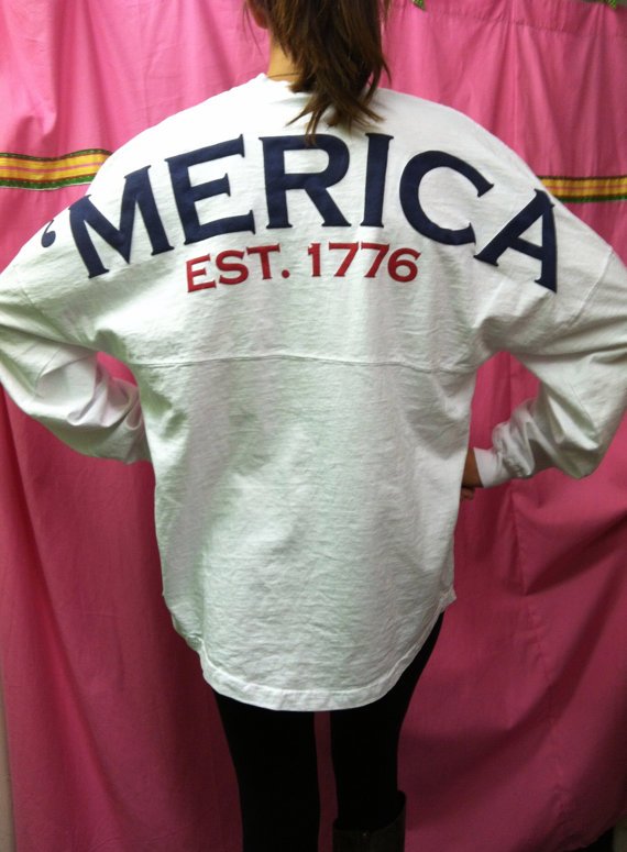 Spirit jersey  'merica  in stock by whalestailboutique on etsy