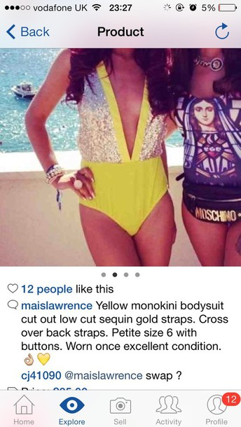 swimwear yellow swimwear