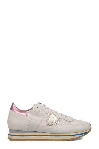 glitter sneakers leather white shoes