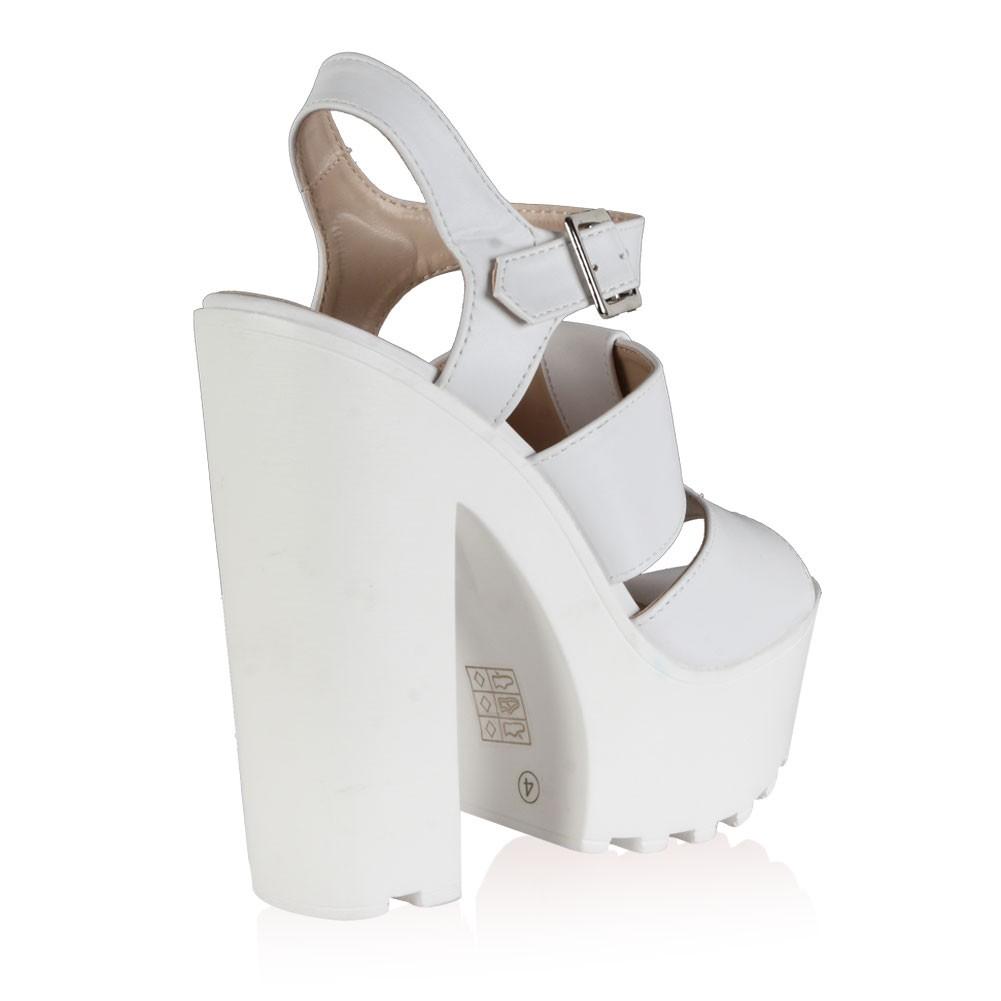 White High Heel Platform Shoes
