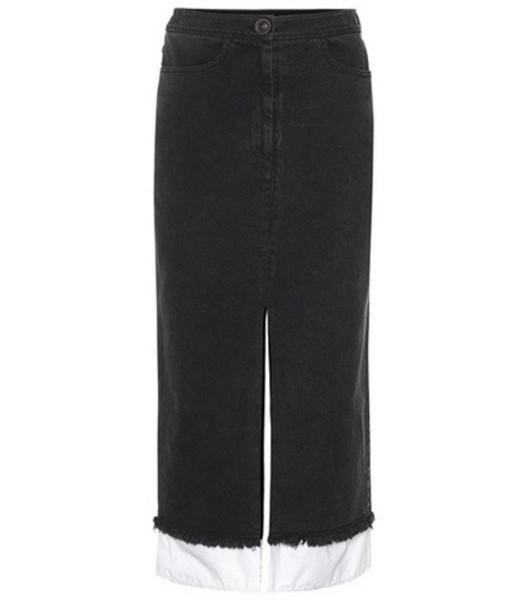 Rejina Pyo Denim pencil skirt in black