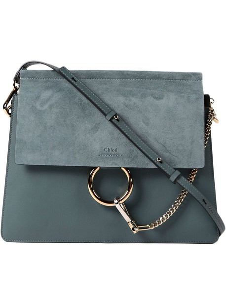 Chloe bag shoulder bag blue