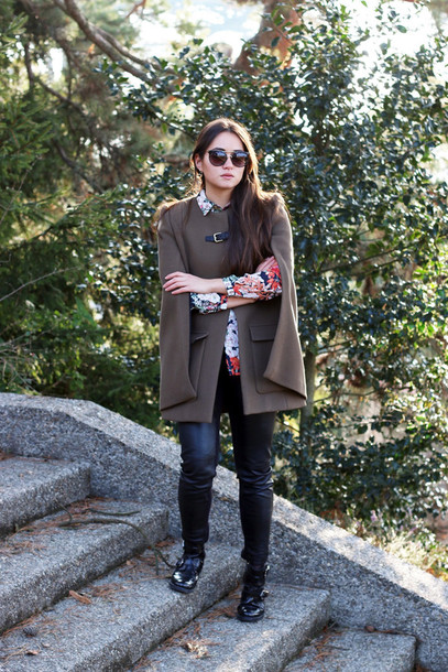 blaastyle blogger pants cape coat shirt shoes sunglasses jewels