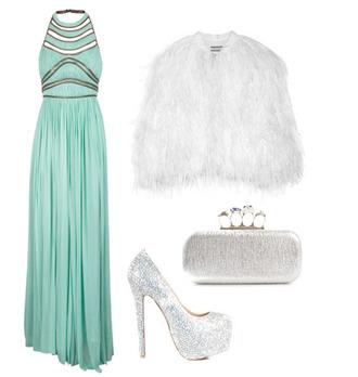 dress pool green cute maxi dress prom dress sequin dress glitter dress turquoise mint mini dress fabulous lovely gorgeous coat fur faux fur white silver couture shawl