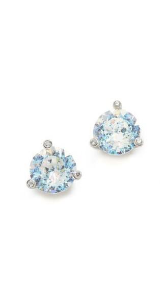 earrings stud earrings white jewels
