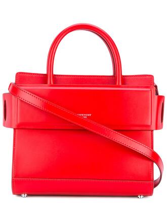 mini women bag tote bag leather red
