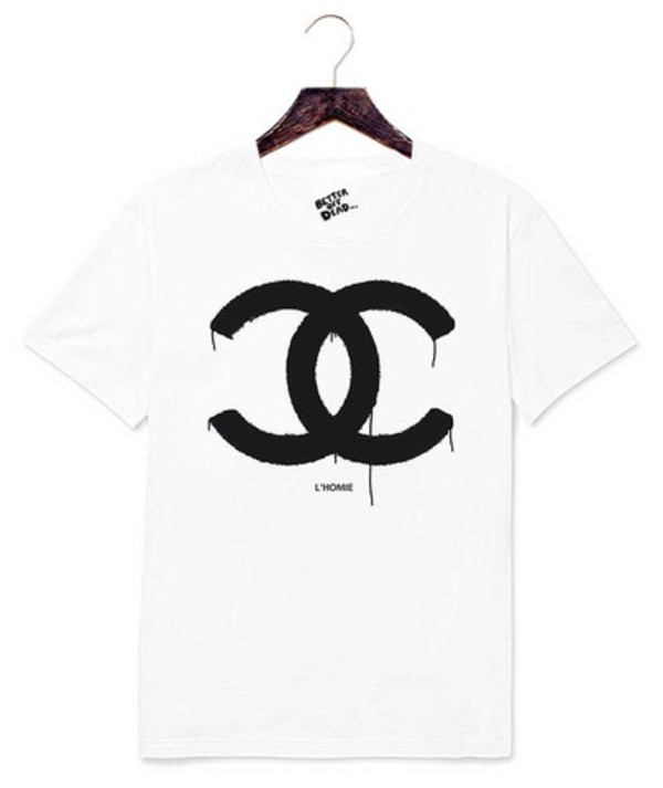 t-shirt chanel chanel white cotton better off dead fucked up fiends anti anti