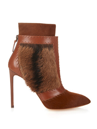 leather ankle boots hair boots ankle boots leather brown shoes