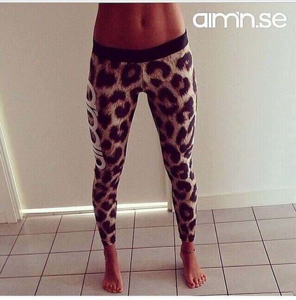 pants leopard print leggings leopard print fitness fitness printed leggings clothes tumblr tumblr outfit workout animal print adidas leopard print tights