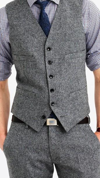 pants tweed vest