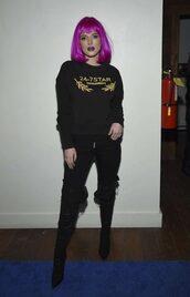sweater,sweatshirt,bella thorne,pants,hair