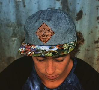 hat cap volcom floral stone