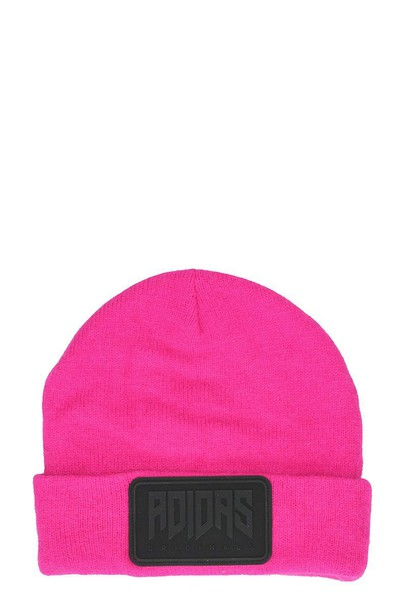 women beanie wool pink rose hat