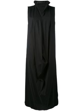 dress women spandex draped cotton black
