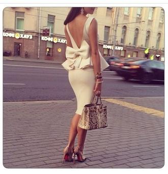 dress midi dress anycolor bow back dress