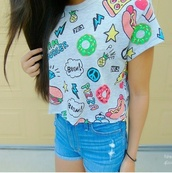 t-shirt,funny,colorful
